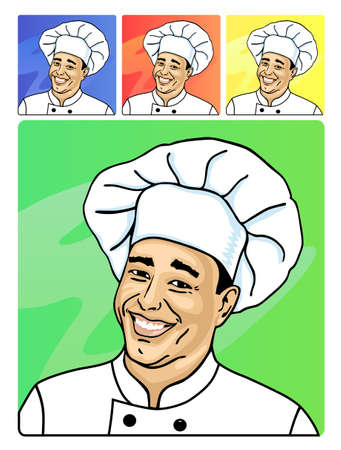 A smiling face of cook Stock Vector - 11358030