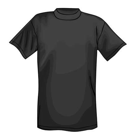 Black vector T-shirt design template isolated on white background Vector