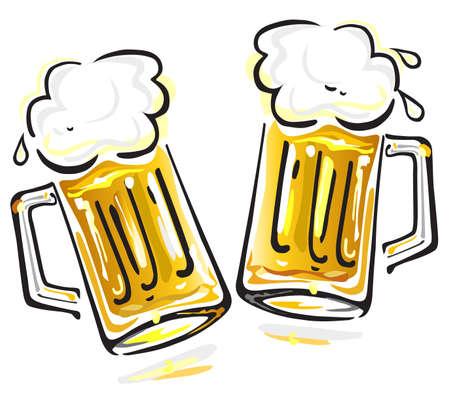beer froth: Beer