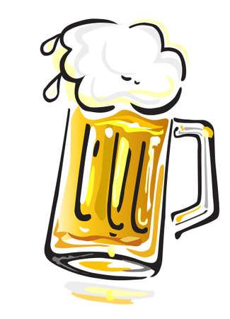 vasos de cerveza: Cerveza