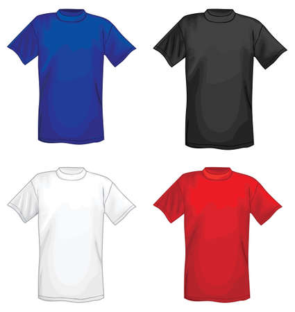 Multicolored vector T-shirt design templates  Vector