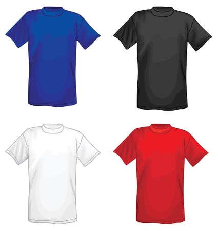 sleeved: Multicolored vector T-shirt design templates  Illustration