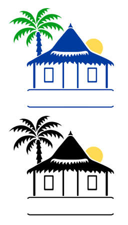 Bungalow signs  Vector