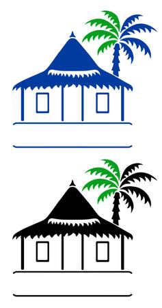 방갈로: 방갈로 표지판