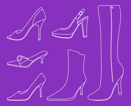 Collection of women shoes Stock Vector - 11358086
