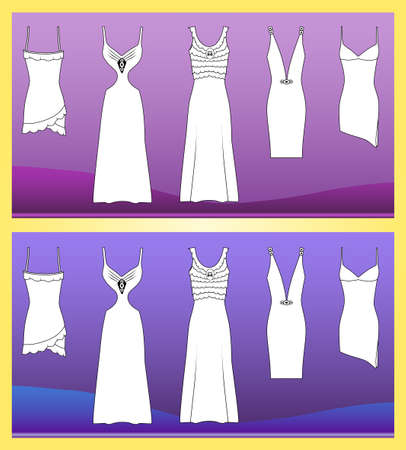 Evening dresses  Stock Vector - 11358106