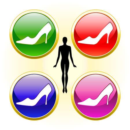 Shoes advertisement Stock Vector - 11358097