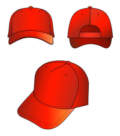 sported: Red cap