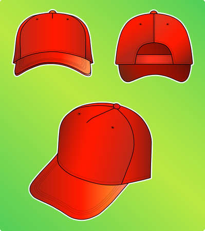 hat with visor: Red cap