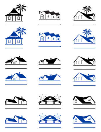 bungalows: House signs  Illustration
