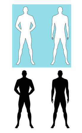 silueta masculina: El hombre silueta