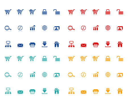 Set of e-commerce icons Stock Vector - 11357699