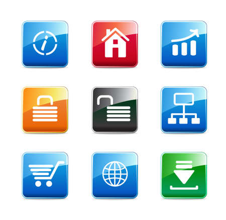 website buttons: Set of e-commerce icons  Illustration