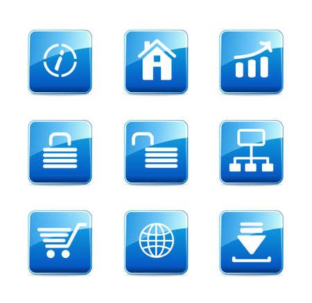 Set of e-commerce icons  Illustration