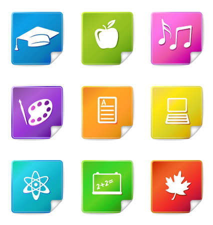 Education sticker icons  Vector