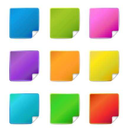 Blank sticker icons  Vector