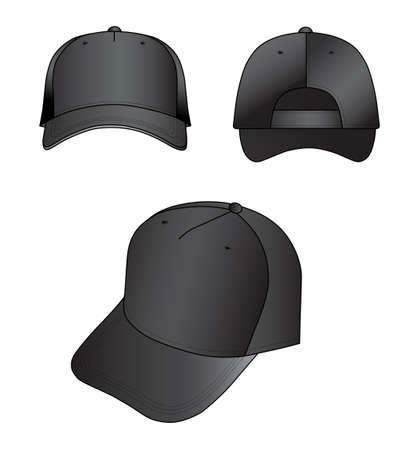 sported: Black cap  Illustration