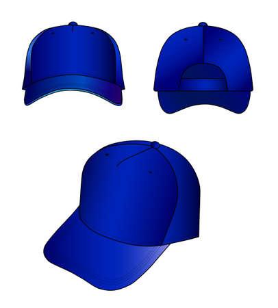 sported: Dark-blue cap