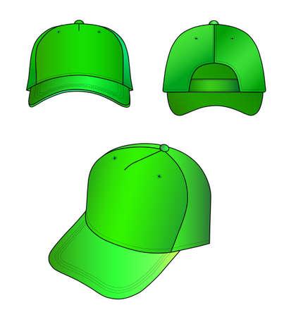 sported: Green cap