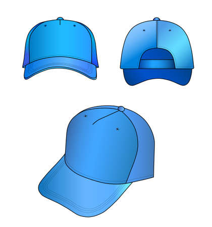 sported: Light-blue cap