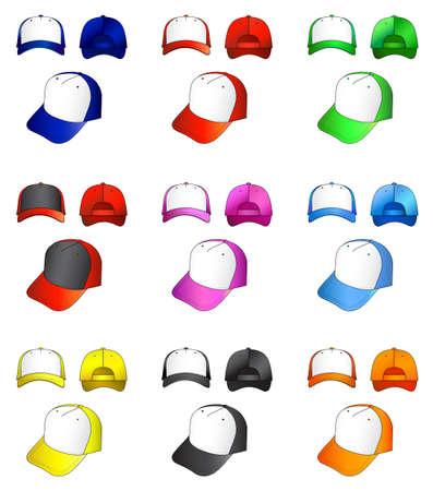 Cap collection  Vector