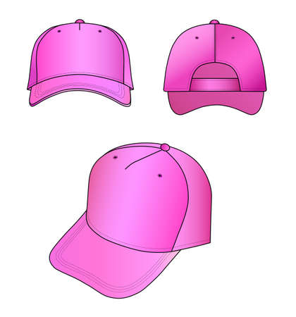 hat with visor: Pink cap