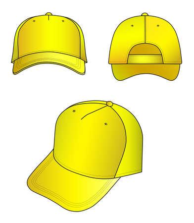 sported: Yellow cap