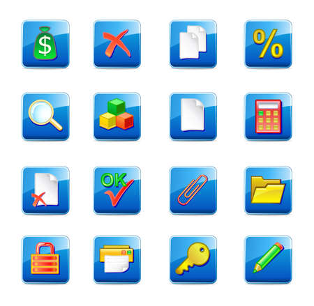 WWW accountant icons  Stock Vector - 11357717