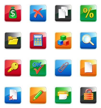 WWW accountant icons  Vector