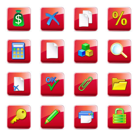 WWW accountant icons Stock Vector - 11357714