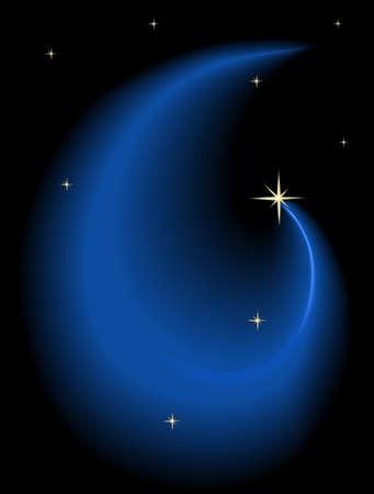 evening glow: Night sky with stars
