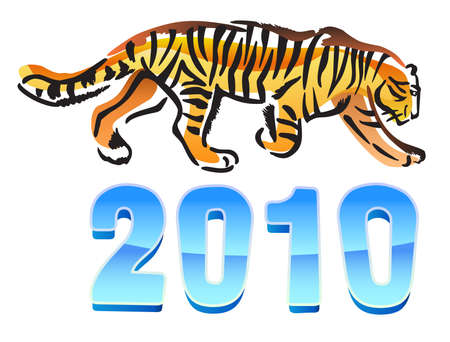 2010 year of tiger  Stock Vector - 11358121
