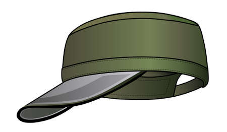 sported: Military cap