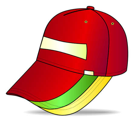 sported: Baseball cap  Illustration