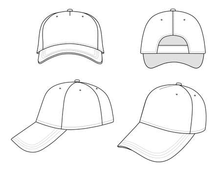 brim: Baseball cap  Illustration
