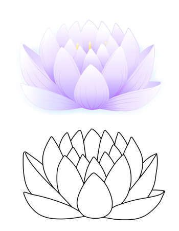 Blue lotus  Stock Vector - 11357642