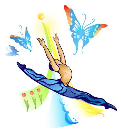 I follow the sun (ballet dancer)  Vector