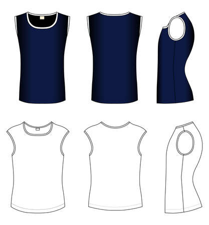 Outline black t-shirt vector illustration isolated on white  Vector