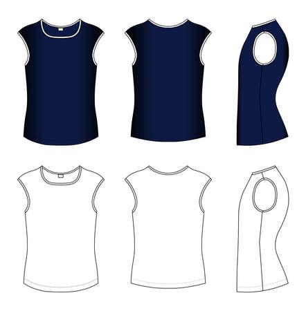 sleeveless top: T-shirt