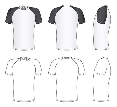 Raglan sleeve t-shirt Stock Vector - 11357571
