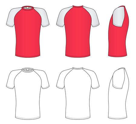 Raglan sleeve t-shirt Stock Vector - 11357570