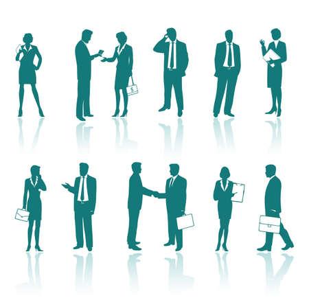 experte: Business-Menschen Silhouetten