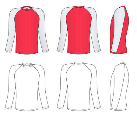 �rmel: Raglan-�rmel-T-Shirt Illustration