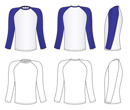 long sleeve: Raglan sleeve t-shirt