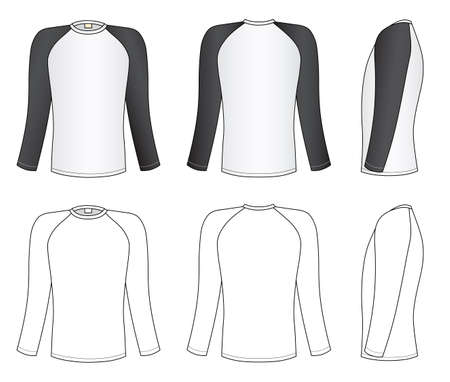 long sleeve shirt: Raglan sleeve t-shirt