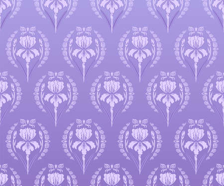 Seamless wallpaper iris background  Vector