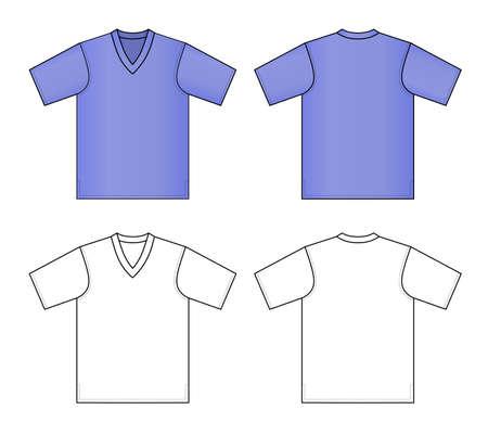 tshirt template: T-shirt vector illustration  Illustration