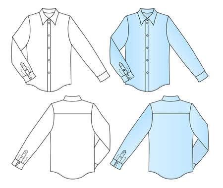 Contour coloré illustration vectorielle chemise isolé sur blanc