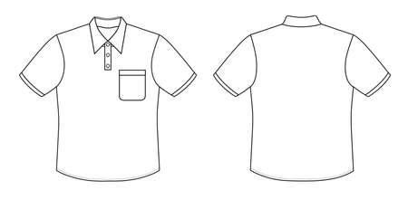 Outline black-white shirt vector illustration isolated on white Stock Vector - 11357598