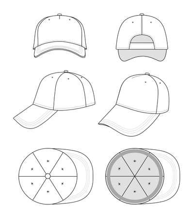 Cap sjabloon Vector Illustratie